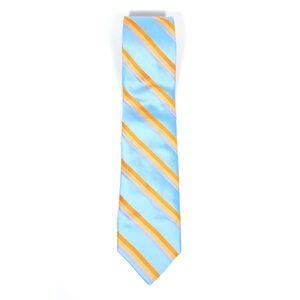 Ted Baker Blue Orange Striped Silk Neck Tie
